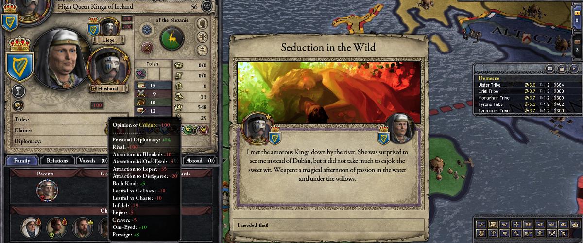 Crusader Kings 3 romance seduction women development